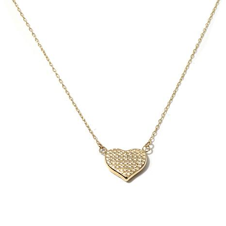 "Passport to Gold 14K Gold Puffed-Heart 17"" Necklace"