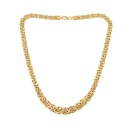 "Passport to Gold 14K Graduated Byzantine-Chain 17"" Necklace"