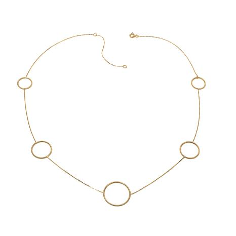 Passport to Gold 14K Graduated Circle Station Necklace