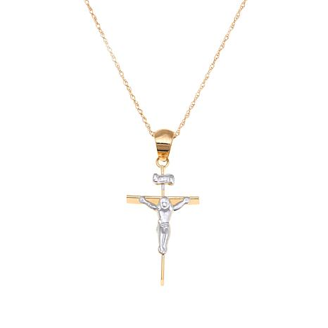 Passport to Gold 14K Kid's Crucifix Pendant with Chain