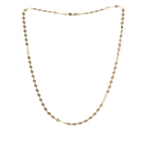 """Passport to Gold 14K Polished Disc 20"""" Necklace"""