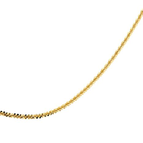 "Passport to Gold 14K Sparkle Crisscross 16"" Chain"
