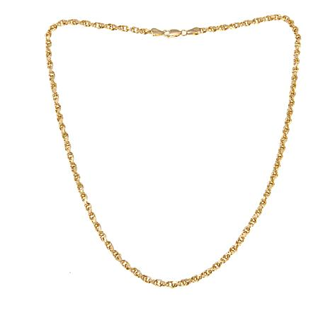 "Passport to Gold 14K Triple Link Diamond-Cut 18"" Necklace"