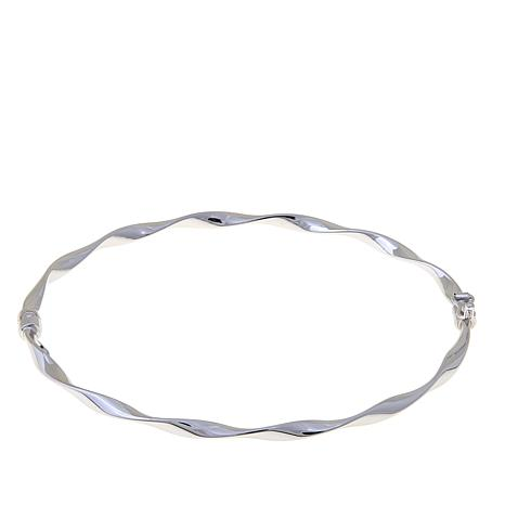 Passport to Gold 14K White Gold Twisted Tube Bangle