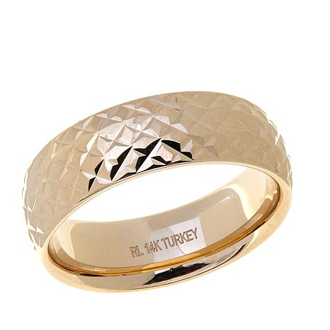 Passport to Gold 14K Yellow Gold Diamond Cut Band Ring