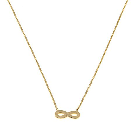 "Passport to Gold 14K Yellow Gold Infinity 16"" Necklace"