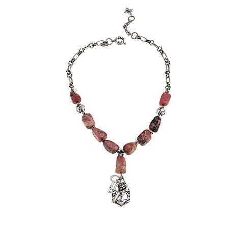 "Patricia Nash 20"" Stone Lock-and-Key Drop Necklace"