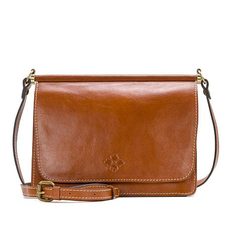 53cda9655 Patricia Nash Caprera Leather Double Flap Crossbody Bag - 8768576 | HSN