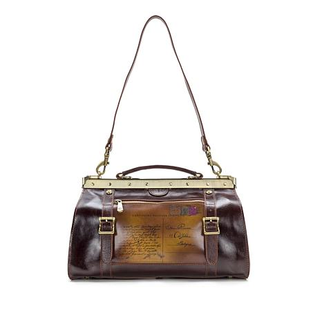 Patricia Nash Discovery Colletta Leather Postcard Frame Satchel