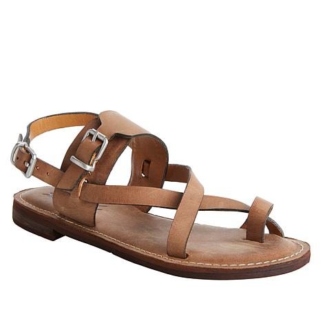 Patricia Nash Fidella Leather Toe-Loop Sandal