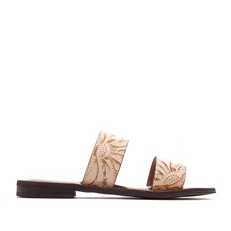 a5dfb59bc86576 Patricia Nash Flair Tooled Leather Flat Sandal - 8654250