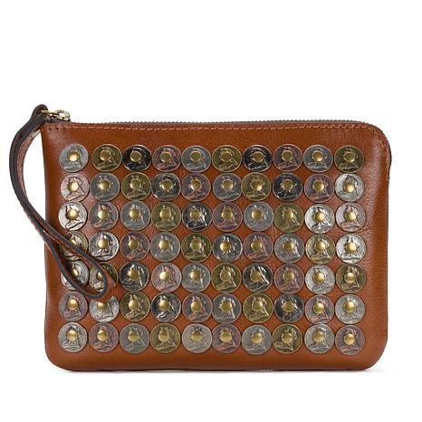 Patricia Nash Leather Coin-Embellished Cassini Wristlet