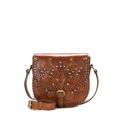 Patricia Nash Montilla Leather Western Cutout Small Flap Bag