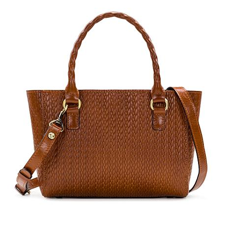 Patricia Nash Mozia Twisted Woven-Embossed Leather Tote