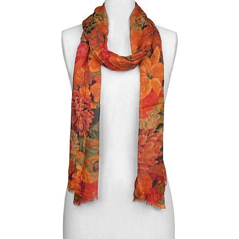 Patricia Nash Multi Floral Print Scarf
