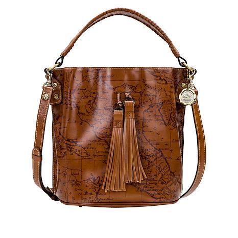 Patricia Nash Octavia Leather Crossbody Bucket Bag