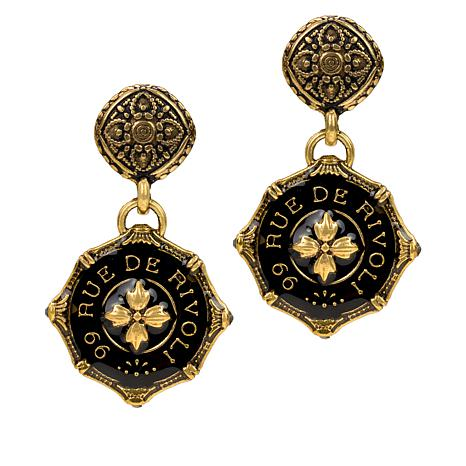 Patricia Nash Paris Postal Rue de Rivoli Drop Earrings