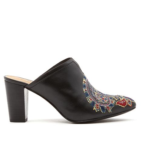 Patricia Nash Roberta Embroidered Leather Mule