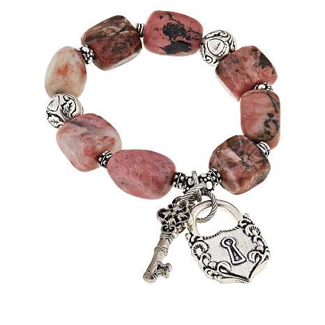 Patricia Nash Stone Lock-and-Key Stretch Bracelet