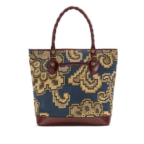 Patricia Nash Sungaro Tapestry Tote with Leather Trim