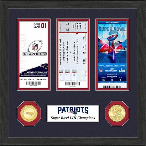 5325e9d8 Patriots Officially Licensed Road to Super Bowl LIII Ticket Collection