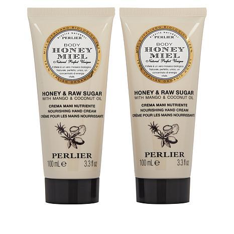 Perlier 2-pack Honey Raw Sugar Hand Cream