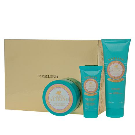 Perlier Golden Almond 3-piece Bath and Body Set