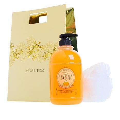 Perlier Honey Pumpkin Shower Cream 3-piece Set