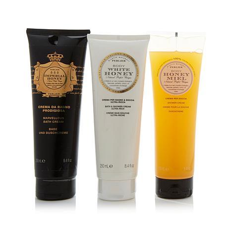 perlier honey shower and bath cream trio 8379436 hsn
