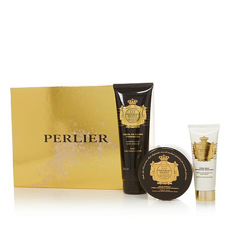 Perlier Imperial Honey 3-piece Bath and Body Set with Box