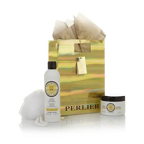 Perlier Shea Citrus Body Balm & Cream Shower Set