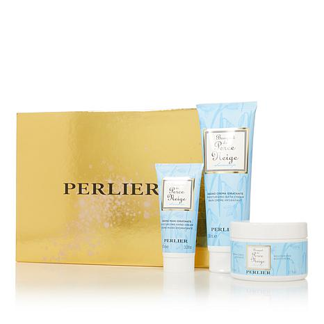 Perlier Snowdrop 3-piece Bath and Body Set with Box