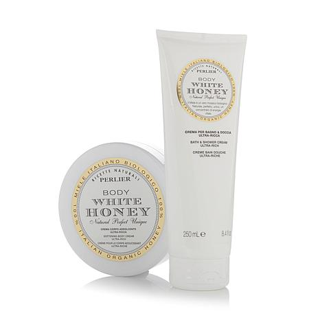 Perlier White Honey Body Cream & Cream Bath Duo