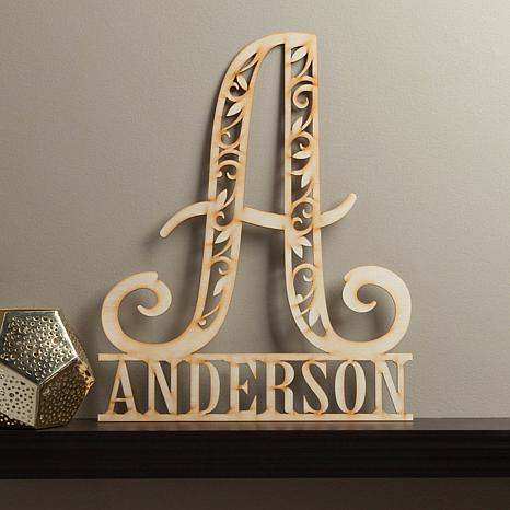 Personalized Family Name Wood Plaque
