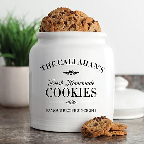 Personalized Fresh Homemade Cookies Cookie Jar