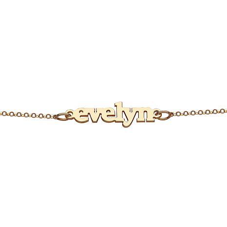 Personalized Lowercase Name Bracelet