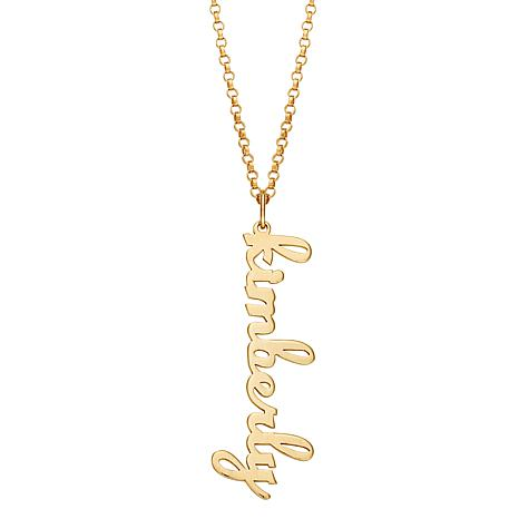 "Personalized Name Pendant with 18"" Rolo-Link Chain"