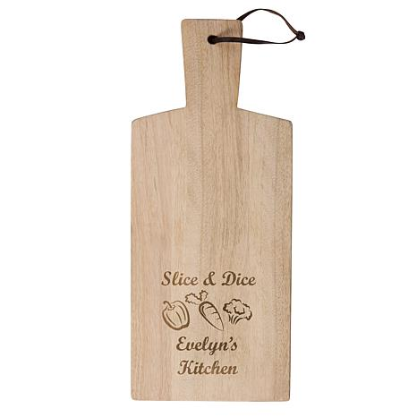 "Personalized ""Slice & Dice"" Wooden Chopping Board"
