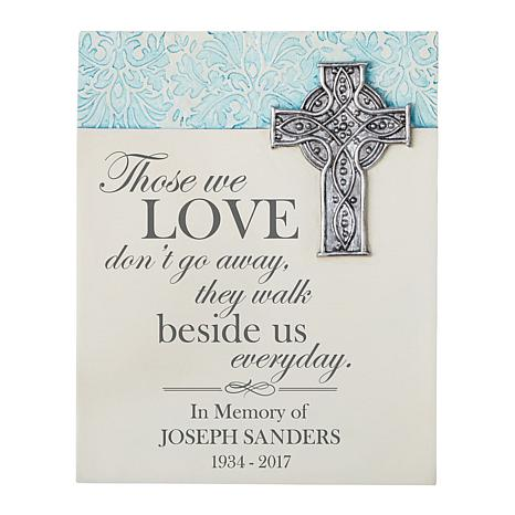 """Personalized """"Walk Beside Me"""" Memorial Wall Plaque - 7-1/4"""" x 9"""""""