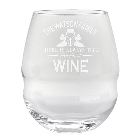 "Personalized ""Wine Time"" 26 oz. Colossal Stemless Wine Glass"