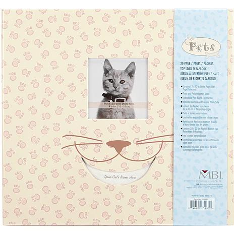 "Pet 12"" x 12"" Postbound Album with Photo Window - Cat"