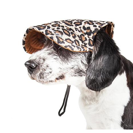 Pet Life Cheetah Bonita Cheetah Print Adjustable Dog Hat - Large