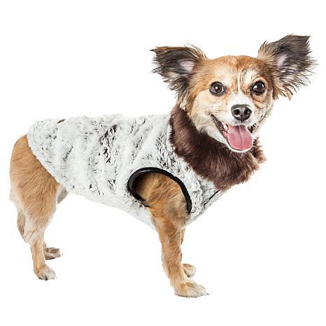 Pet Life Luxe Purrlage Pelage Designer Fur Dog Coat