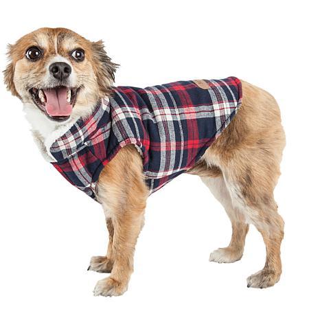 Pet Life Puddler Classic Plaid Insulated Dog Coat