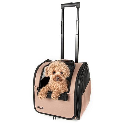 Pet Life Wheeled Travel Pet Carrier with Telescoping Handle