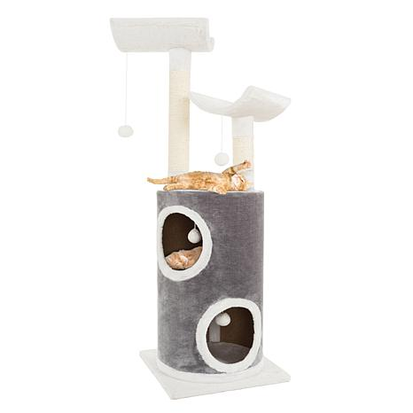 PETMAKER 5-Tier Cat Tree with Toys & 2 Scratching Posts