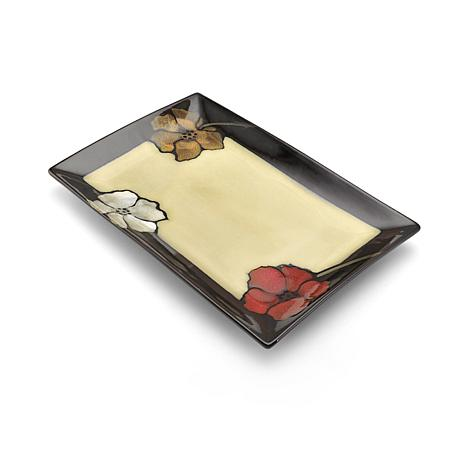 Pfaltzgraff Painted Poppies Rectangular Platter