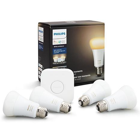 Philips Hue 4-pack White Ambiance A19 Starter Kit