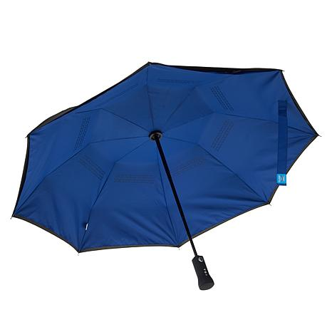 "Phonebrella™ 40"" Auto Open/Close Bluetooth Reverse Umbrella w/App"
