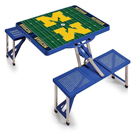 Picnic Time Portable Picnic Table University Of Michigan - Picnic table michigan